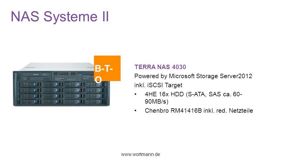 NAS Systeme II TERRA NAS 4030 Powered by Microsoft Storage Server2012 inkl.