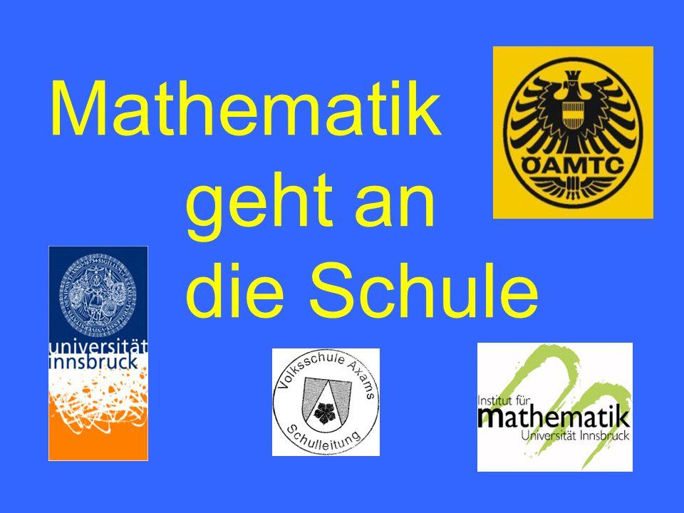 Mathematik geht an die Schule