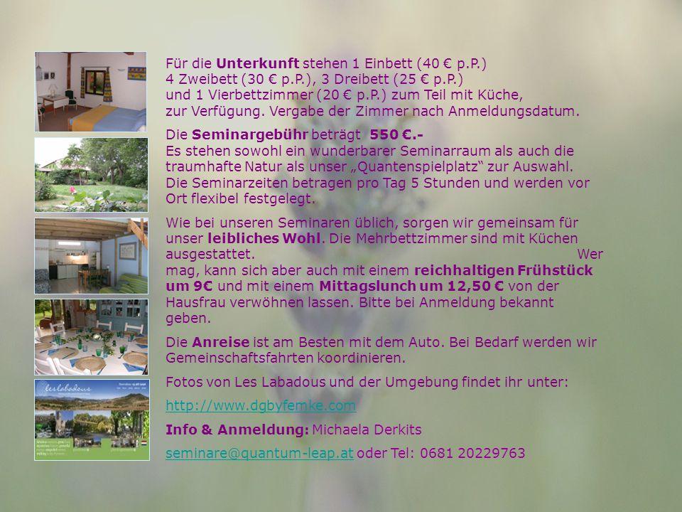 Für die Unterkunft stehen 1 Einbett (40 p.P.) 4 Zweibett (30 p.P.), 3 Dreibett (25 p.P.) und 1 Vierbettzimmer (20 p.P.) zum Teil mit Küche, zur Verfügung.
