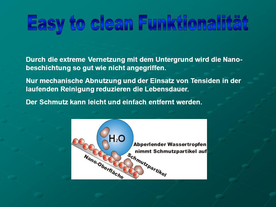 Die Aufgabe der Hydrophobierung ist es, die Saugfähigkeit der Bausubstanz aufzuheben oder stark zu reduzieren, damit die Oberfläche nach der Reinigung