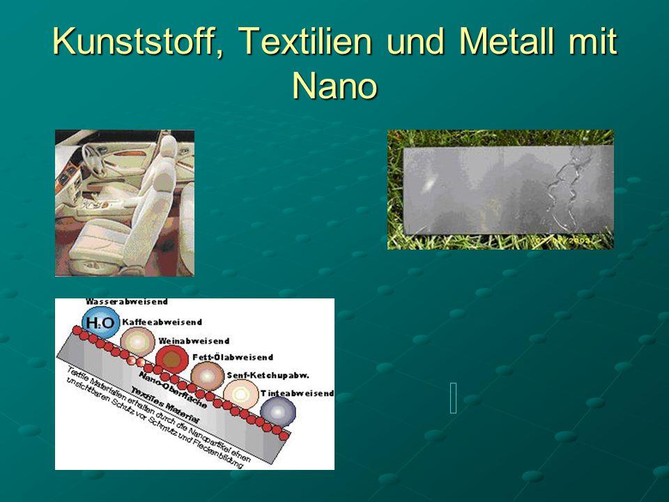 Kunststoff, Textilien und Metall mit Nano