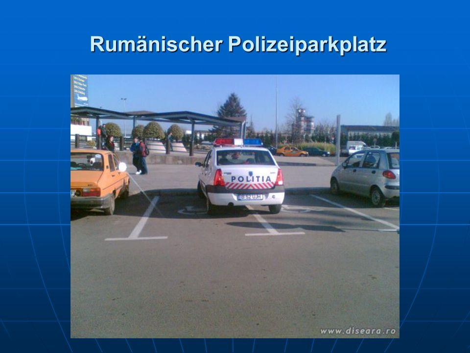 Rumänischer Polizeiparkplatz Rumänischer Polizeiparkplatz