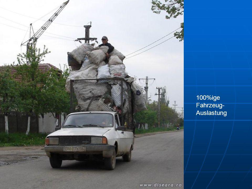 100%ige Fahrzeug- Auslastung