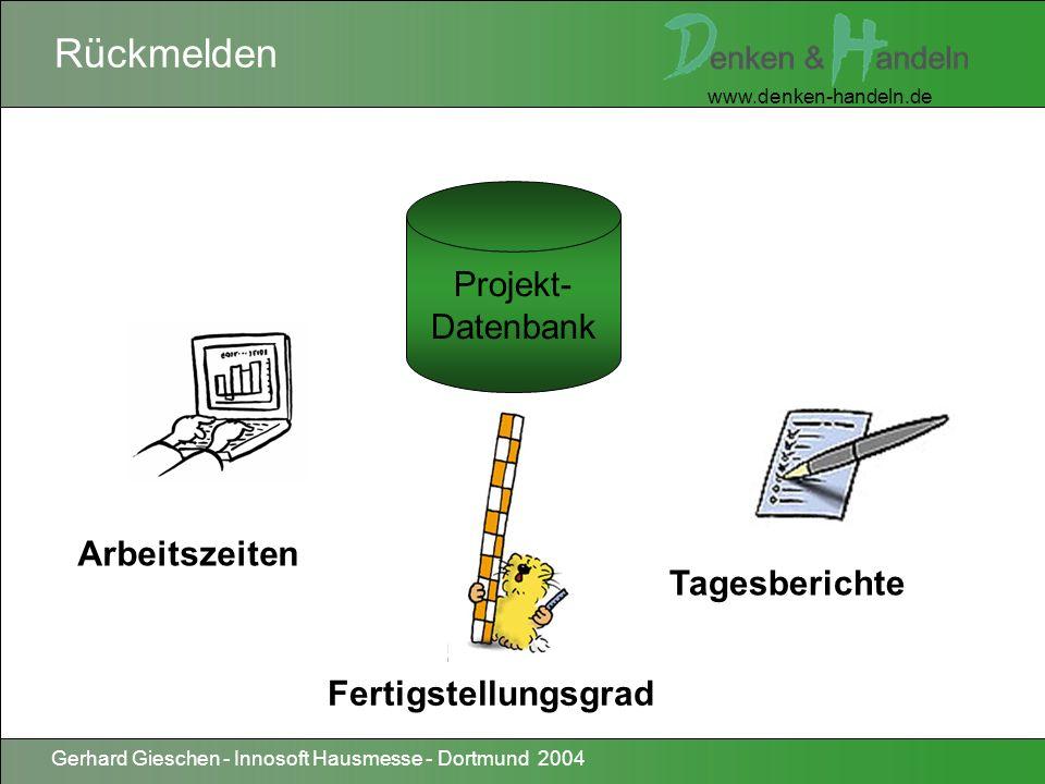 www.denken-handeln.de Gerhard Gieschen - Innosoft Hausmesse - Dortmund 2004