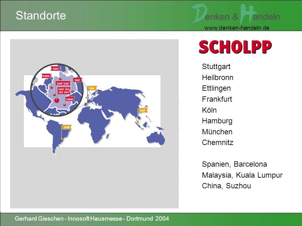 www.denken-handeln.de Gerhard Gieschen - Innosoft Hausmesse - Dortmund 2004 IndustriekraneHubgerüsteSpezialtransporteAutokrane MontagewagenGabelstaplerHubarbeitsbühnenTransportwagen SchwertransporteLadekran - LKWE - IndustriekraneHydr.