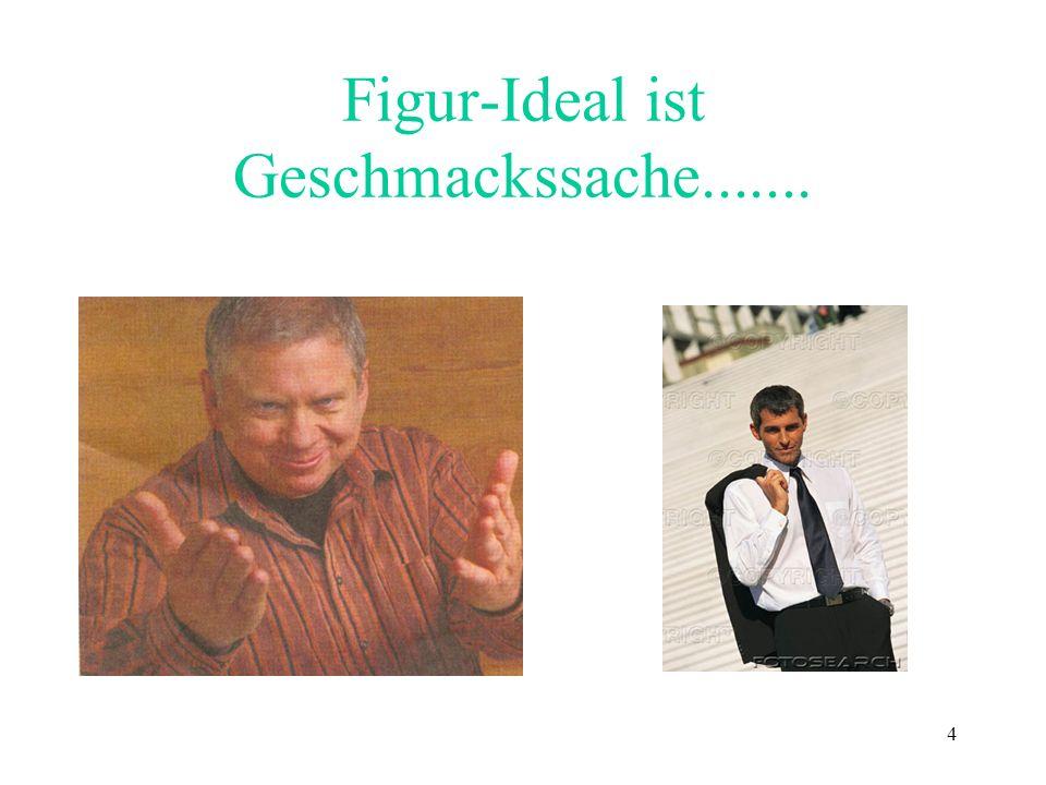 4 Figur-Ideal ist Geschmackssache.......