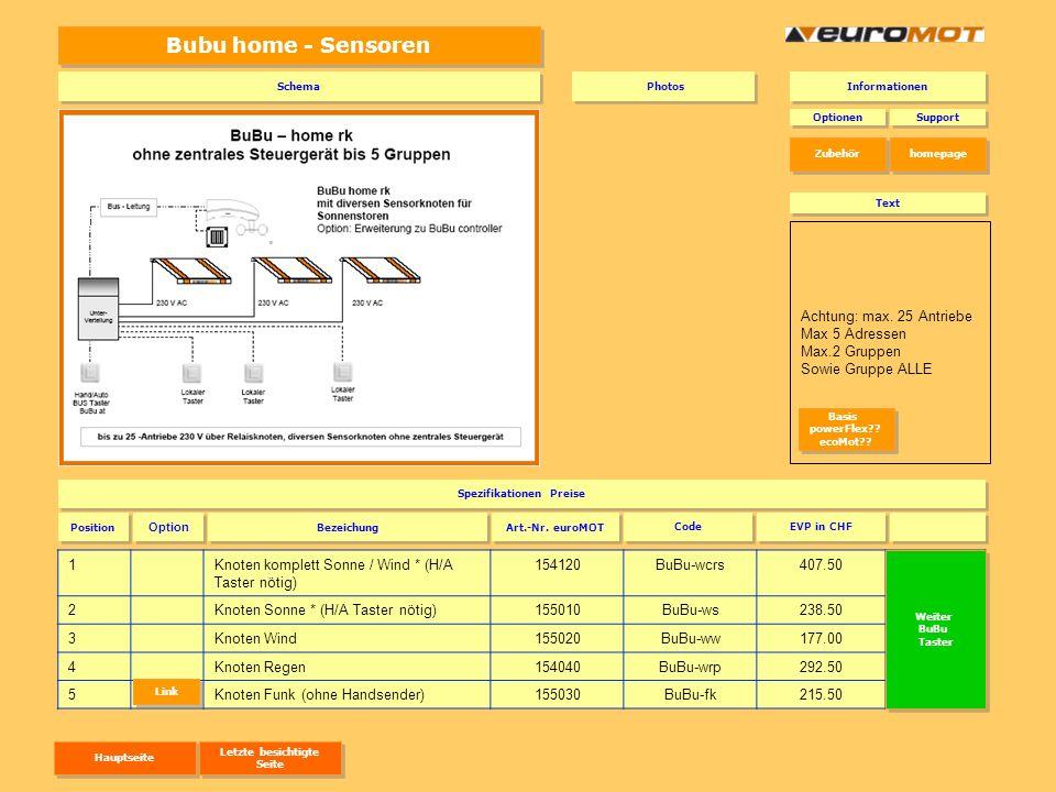 Bubu home - Sensoren 1Knoten komplett Sonne / Wind * (H/A Taster nötig) 154120BuBu-wcrs407.50BuBu-wcrs 2Knoten Sonne * (H/A Taster nötig)155010BuBu-ws