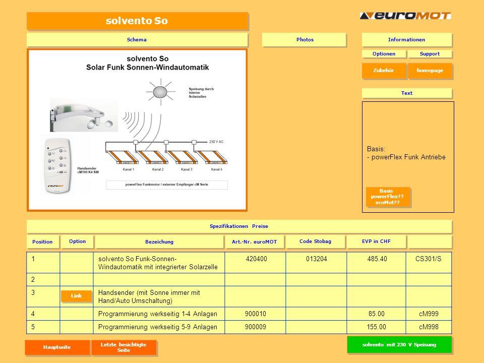 solvento So 1solvento So Funk-Sonnen- Windautomatik mit integrierter Solarzelle 420400013204 485.40CS301/S 2 3Handsender (mit Sonne immer mit Hand/Aut