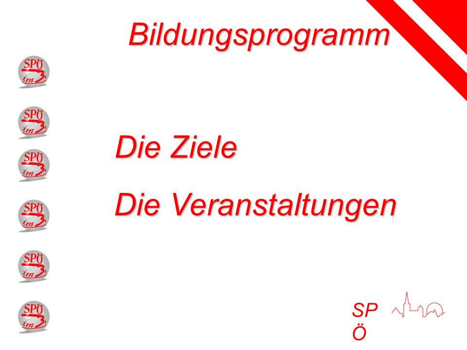 SP Ö Bildungsprogramm Die Ziele Die Veranstaltungen