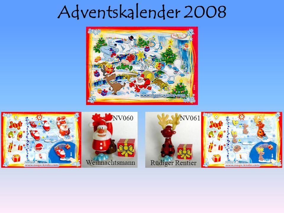 Adventskalender 2008 NV060NV061 Weihnachtsmann Rüdiger Rentier