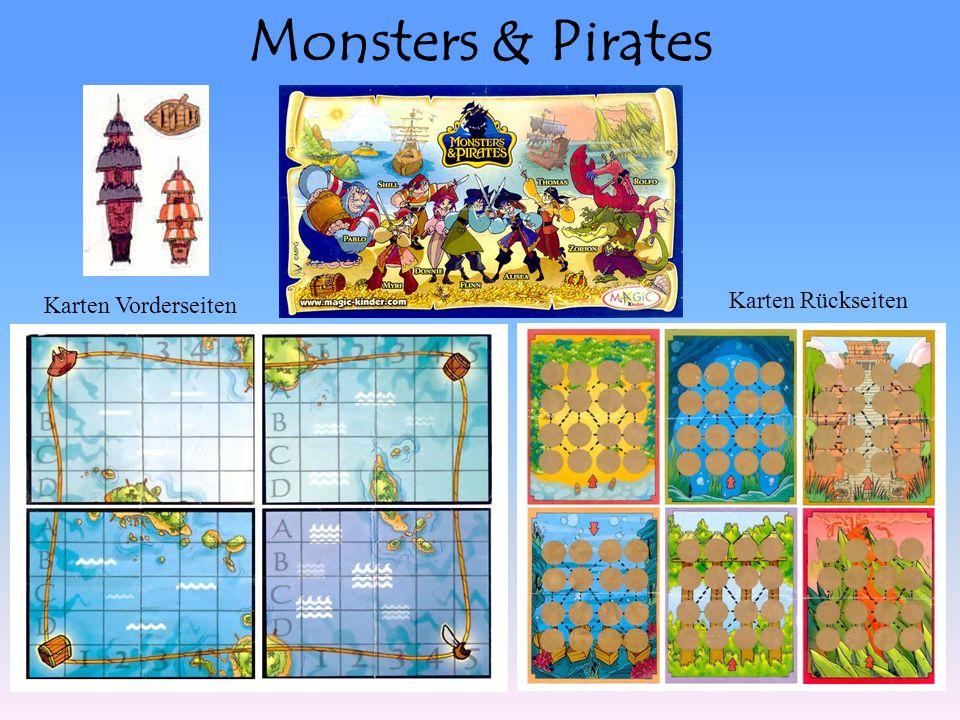 Monsters & Pirates Karten Vorderseiten Karten Rückseiten
