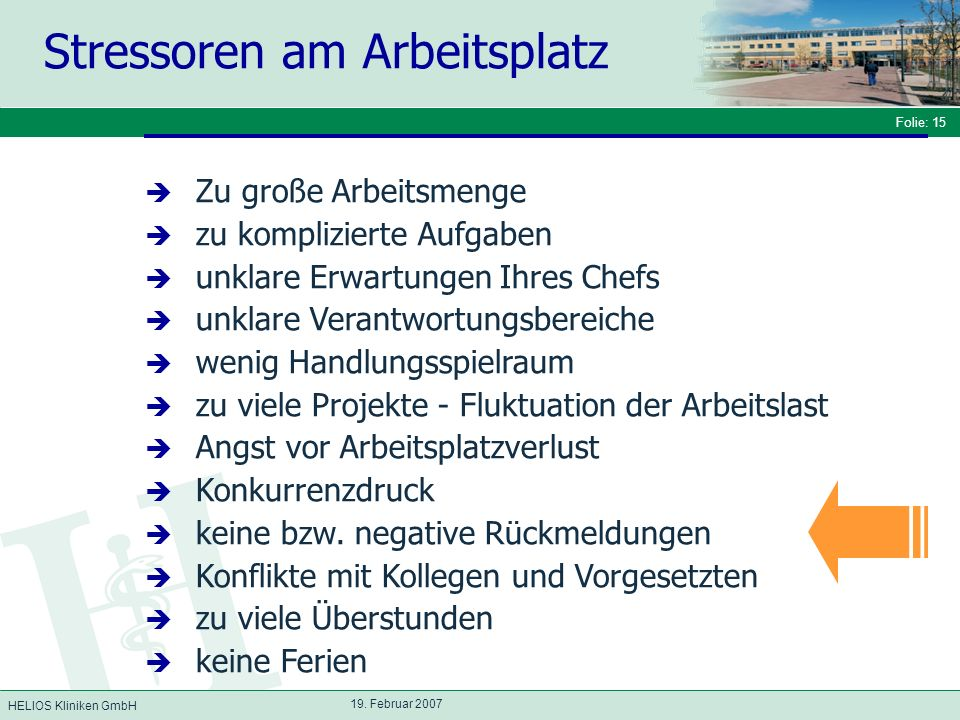 HELIOS Kliniken GmbH Folie: 15 19.