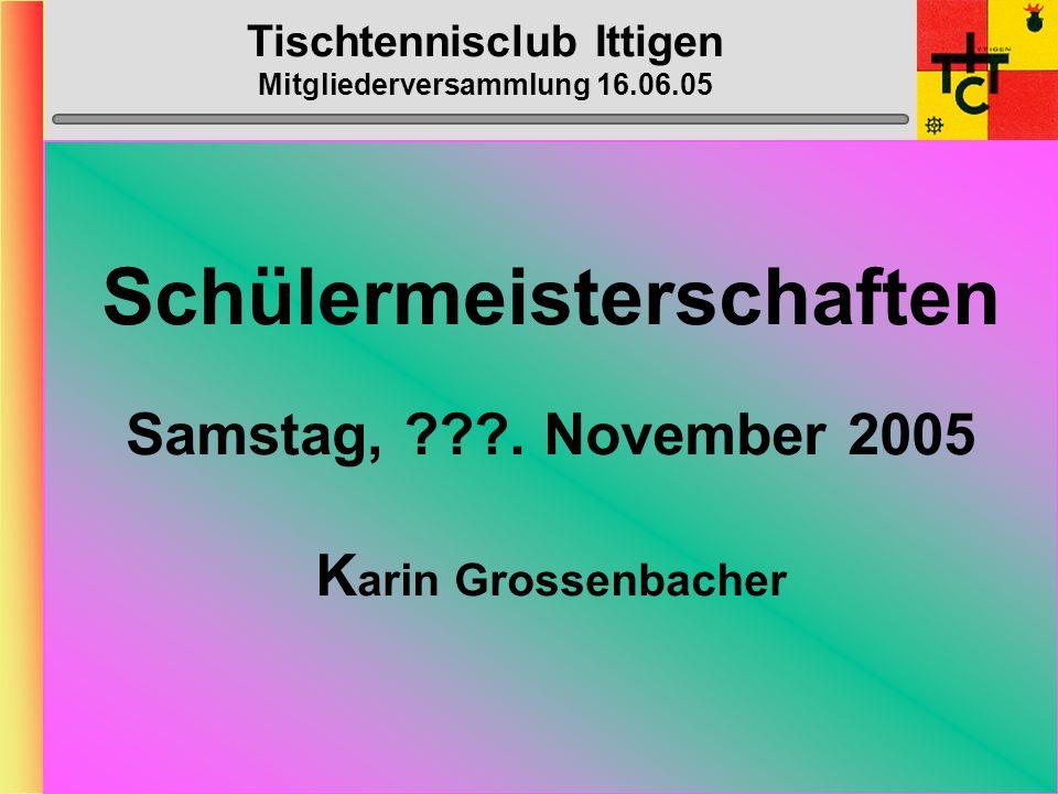 Tischtennisclub Ittigen Mitgliederversammlung 16.06.03 BC-Arbeiten: > Inserate:Heinz,Tinu, Stefu, > Gesuche/Material:Muhmis > Abdeckung:BrünuM.