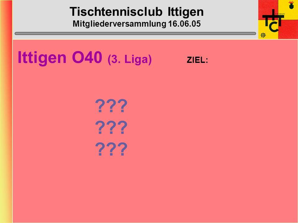 Tischtennisclub Ittigen Mitgliederversammlung 16.06.05 Ittigen 4 (5.