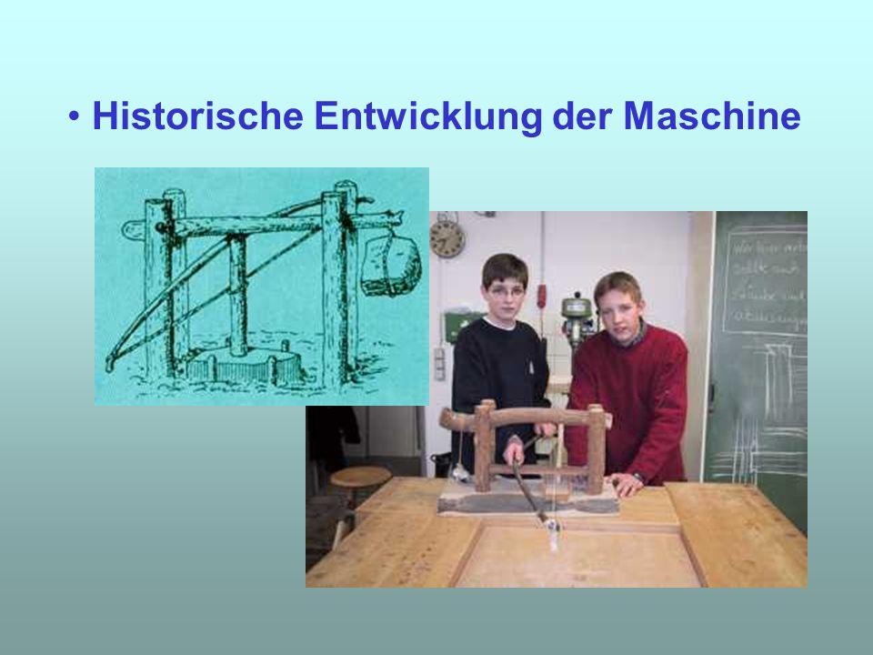 Historische Entwicklung der Maschine
