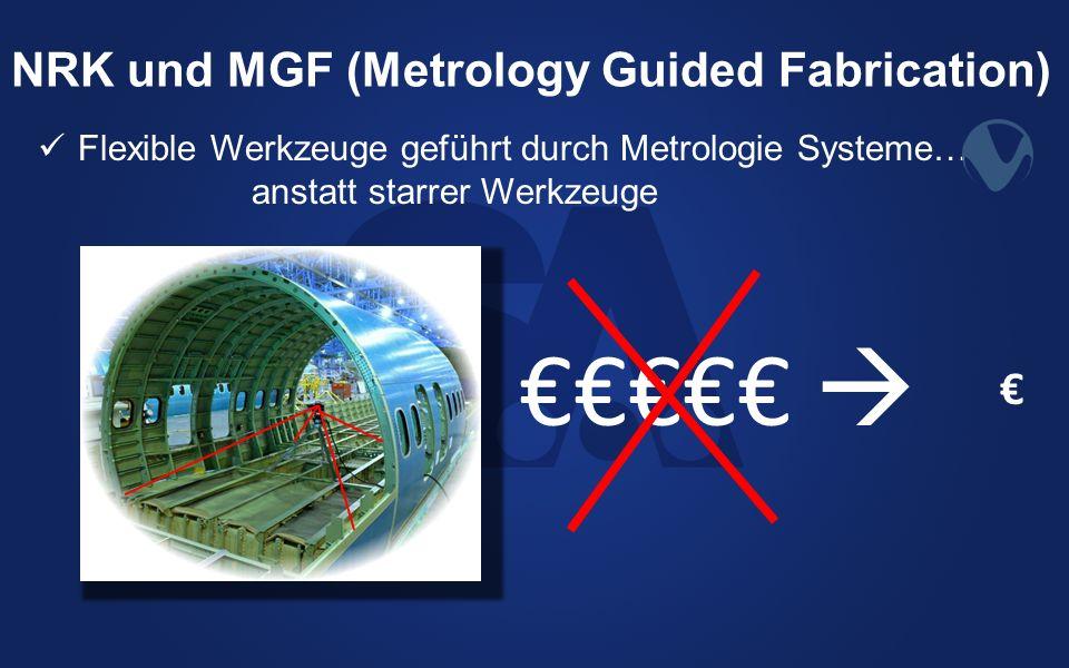 NRK und MGF (Metrology Guided Fabrication) Flexible Werkzeuge geführt durch Metrologie Systeme… anstatt starrer Werkzeuge