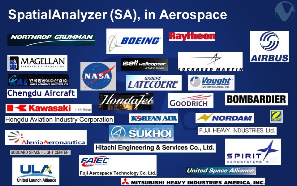 SpatialAnalyzer (SA), in Aerospace