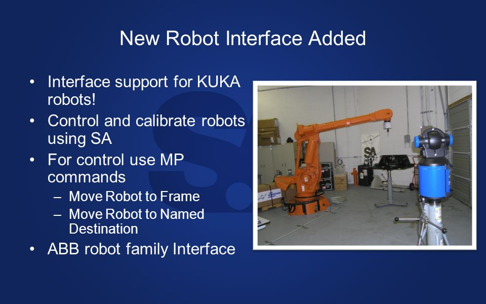 New Robot Interface Added Interface support for KUKA robots.