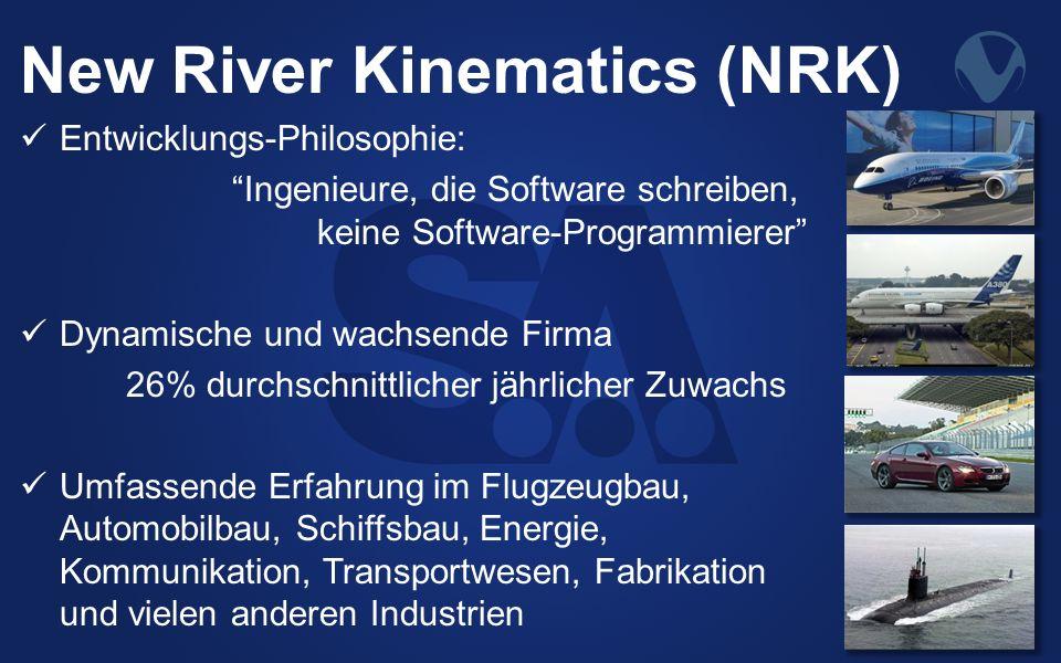 New River Kinematics (NRK) Entwicklungs-Philosophie: Ingenieure, die Software schreiben, keine Software-Programmierer Dynamische und wachsende Firma 2