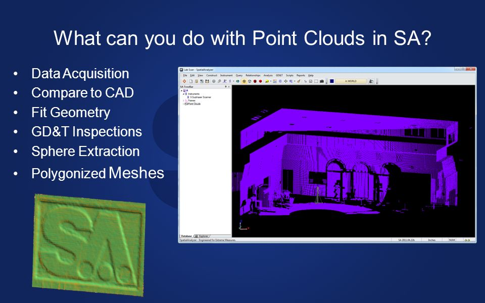 What can you do with Point Clouds in SA.