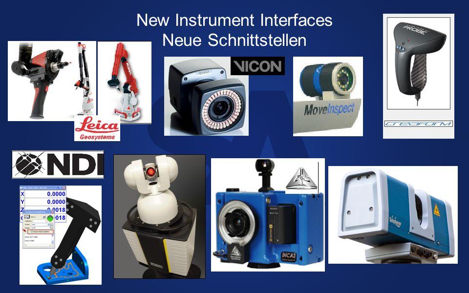 New Instrument Interfaces Neue Schnittstellen