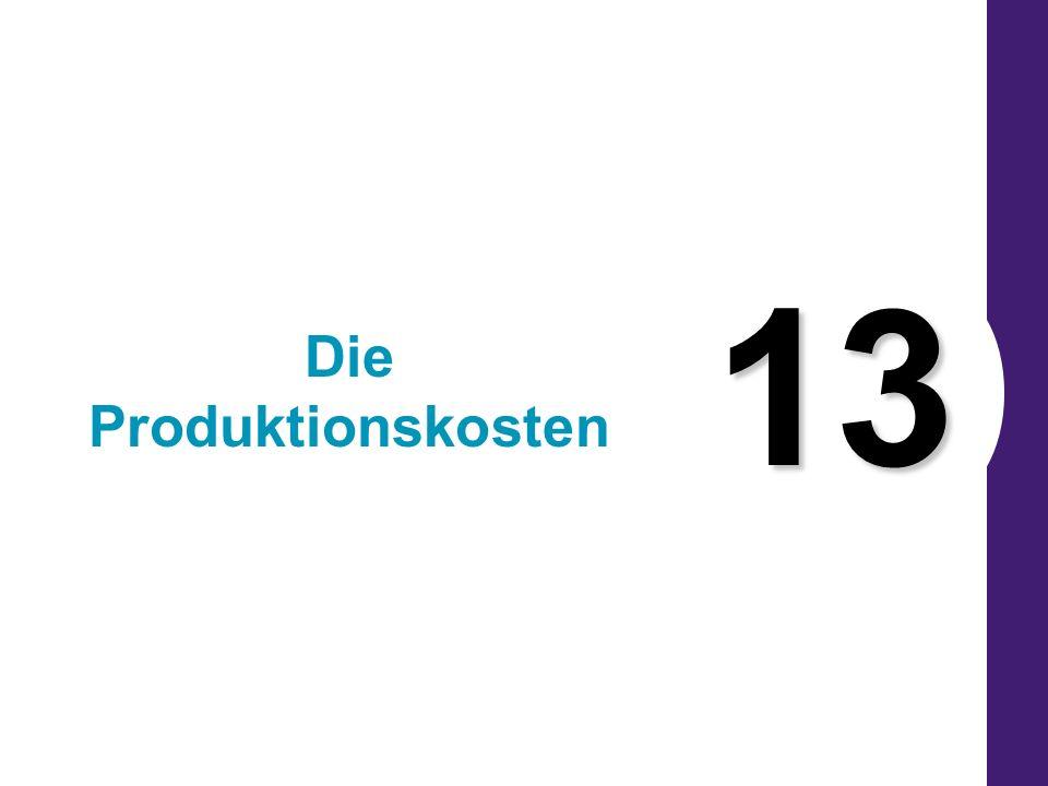 13 Die Produktionskosten