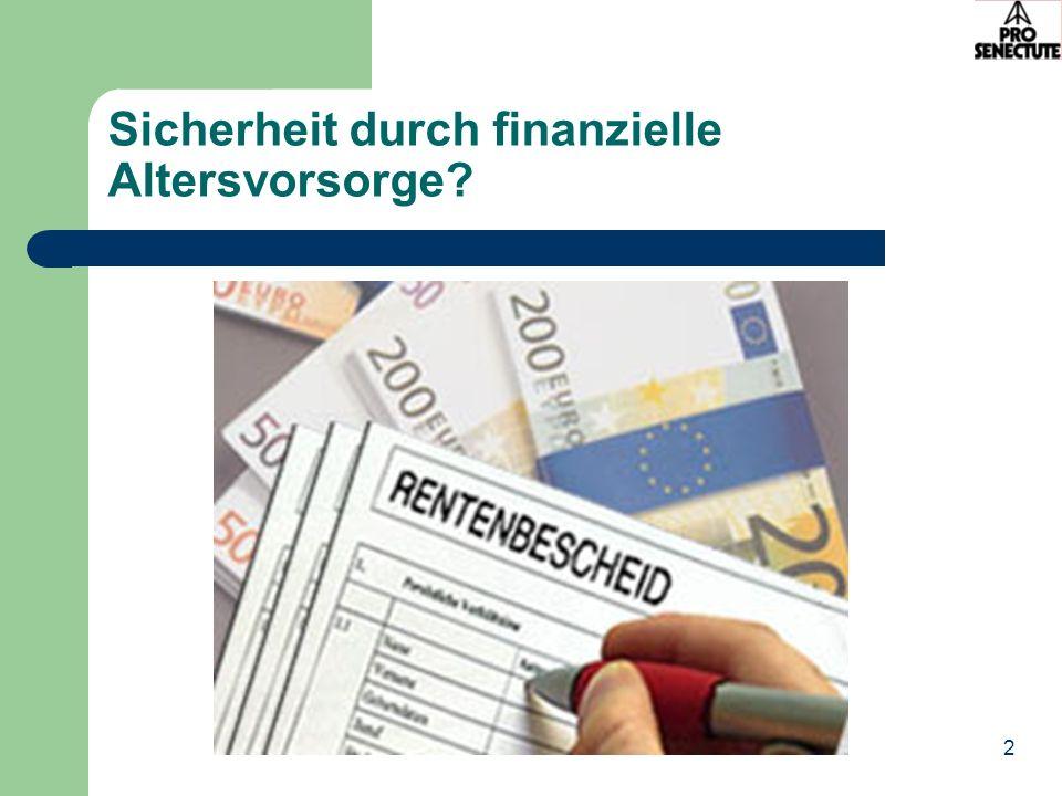 2 Sicherheit durch finanzielle Altersvorsorge?