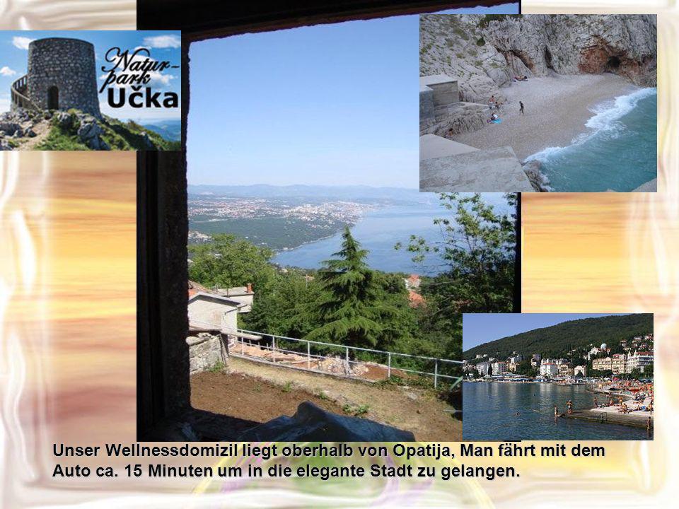 Abendstimmung Ruhe und Frieden Vor uns liegt Rijeka und die Insel Krk.