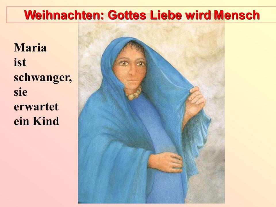 Weihnachten: Gottes Liebe wird Mensch In Betlehem bringt Maria ihr Kind zur Welt, in einem Stall.