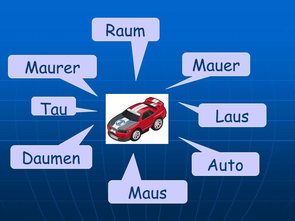 Mauer Auto Raum Maurer Daumen Maus Laus Tau