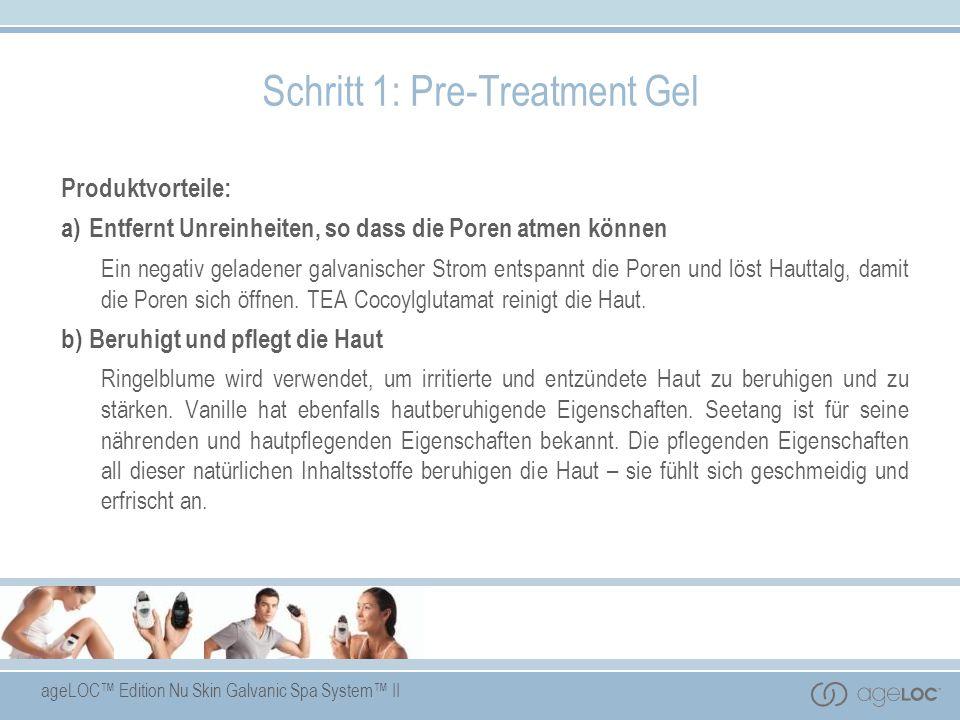 ageLOC Edition Nu Skin Galvanic Spa System II Produktvorteile: a)Entfernt Unreinheiten, so dass die Poren atmen können Ein negativ geladener galvanisc
