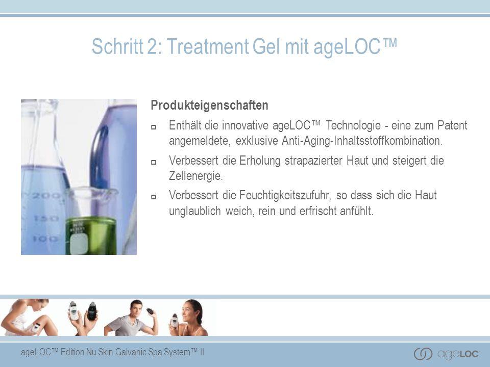 ageLOC Edition Nu Skin Galvanic Spa System II Produkteigenschaften Enthält die innovative ageLOC Technologie - eine zum Patent angemeldete, exklusive