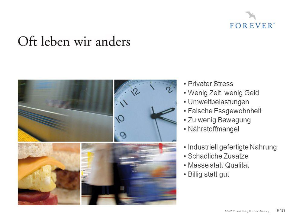 16 / 29 © 2005 Forever Living Products Germany Aloe ist Hauptbestandteil unserer Pflegeprodukte Höchste Qualität und Verträglichkeit für den täglichen Gebrauch