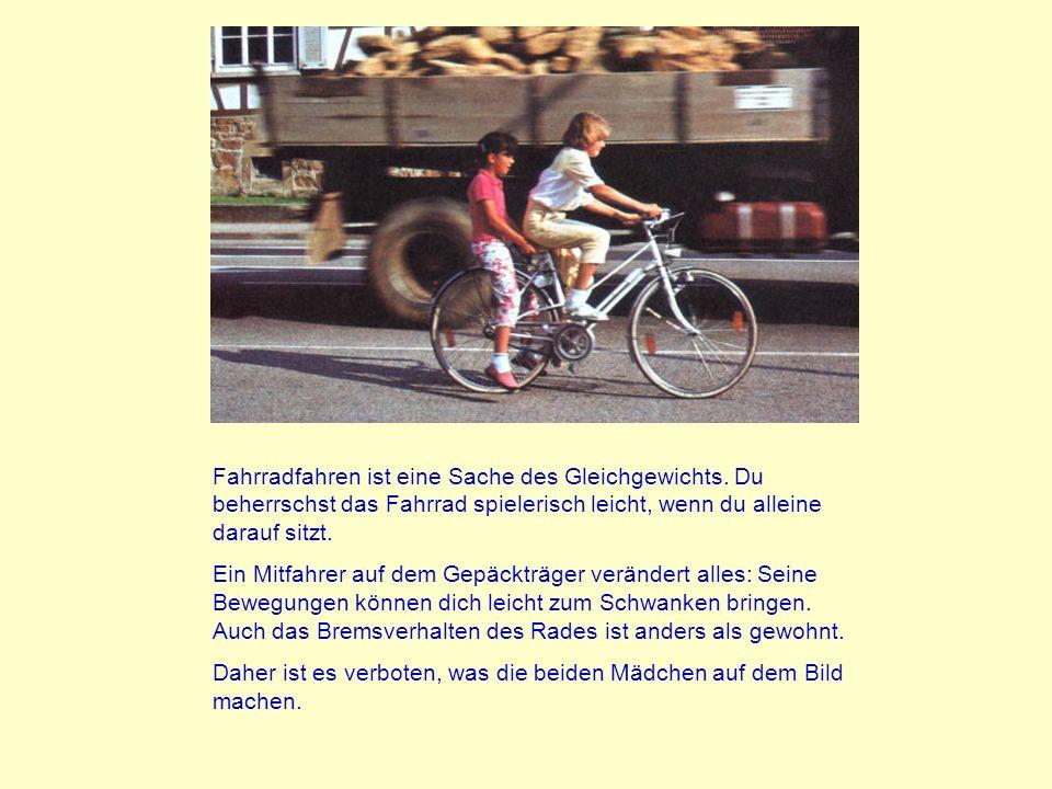 Gefährliche Situationen mit dem Fahrrad In der Diashow werden einige der wichtigsten Gefahren des Radfahrens aufgezeigt.