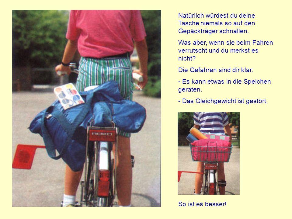 Fahrradfahren ist eine Sache des Gleichgewichts. Du beherrschst das Fahrrad spielerisch leicht, wenn du alleine darauf sitzt. Ein Mitfahrer auf dem Ge