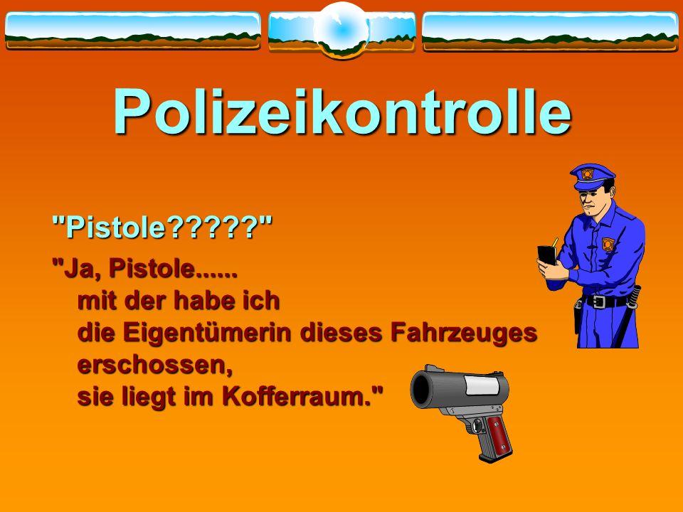 Polizeikontrolle Pistole????? Ja, Pistole......