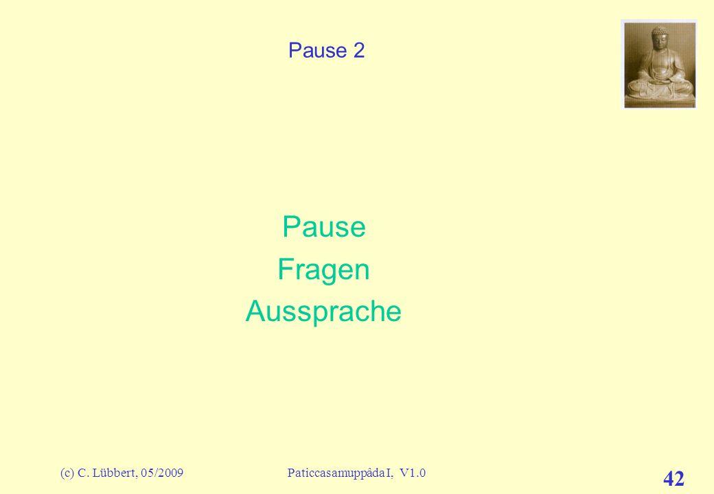 (c) C. Lübbert, 05/2009Paticcasamuppâda I, V1.0 41 ich und mein I (27) – Erläuterung der Bedingtheiten A-paccaya B (A bedingt B) avijjâ Verblendung sa