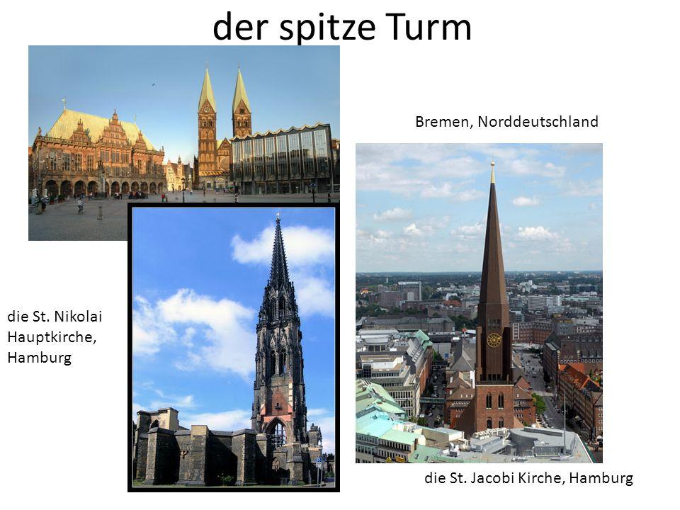 der spitze Turm Bremen, Norddeutschland die St. Jacobi Kirche, Hamburg die St. Nikolai Hauptkirche, Hamburg