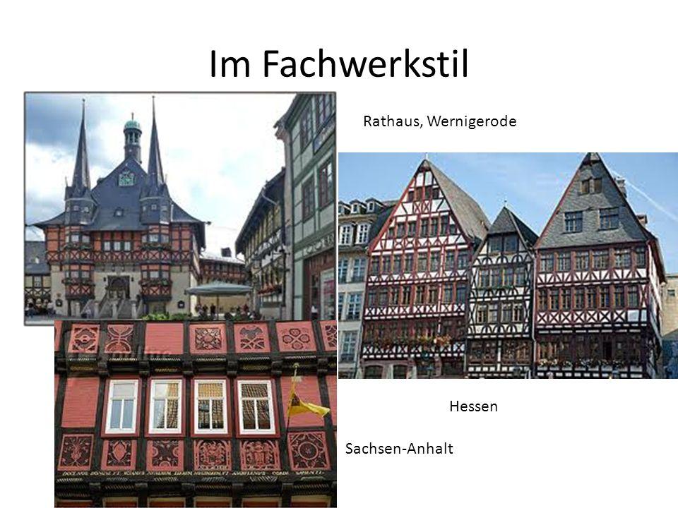 Im Fachwerkstil Rathaus, Wernigerode Hessen Sachsen-Anhalt