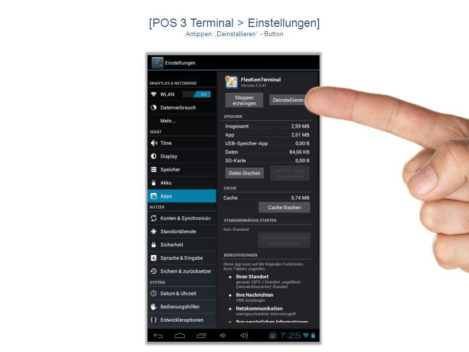 [POS 3 Terminal > Downloads] Wird installiert …