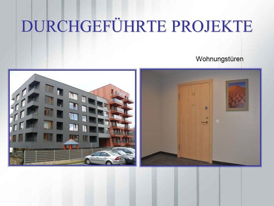DURCHGEFÜHRTE PROJEKTE Wohnungstüren