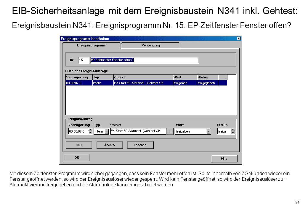34 EIB-Sicherheitsanlage mit dem Ereignisbaustein N341 inkl.