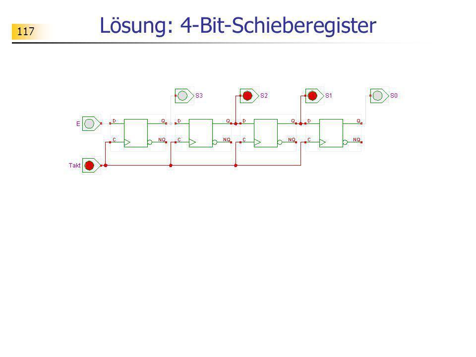 117 Lösung: 4-Bit-Schieberegister