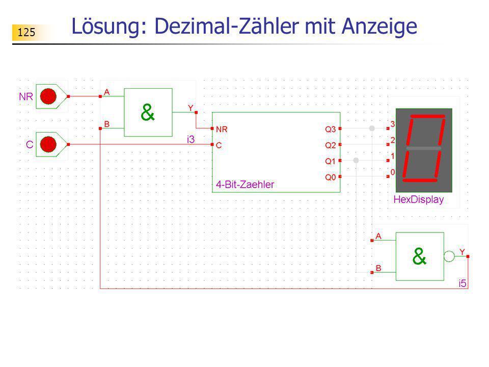 125 Lösung: Dezimal-Zähler mit Anzeige