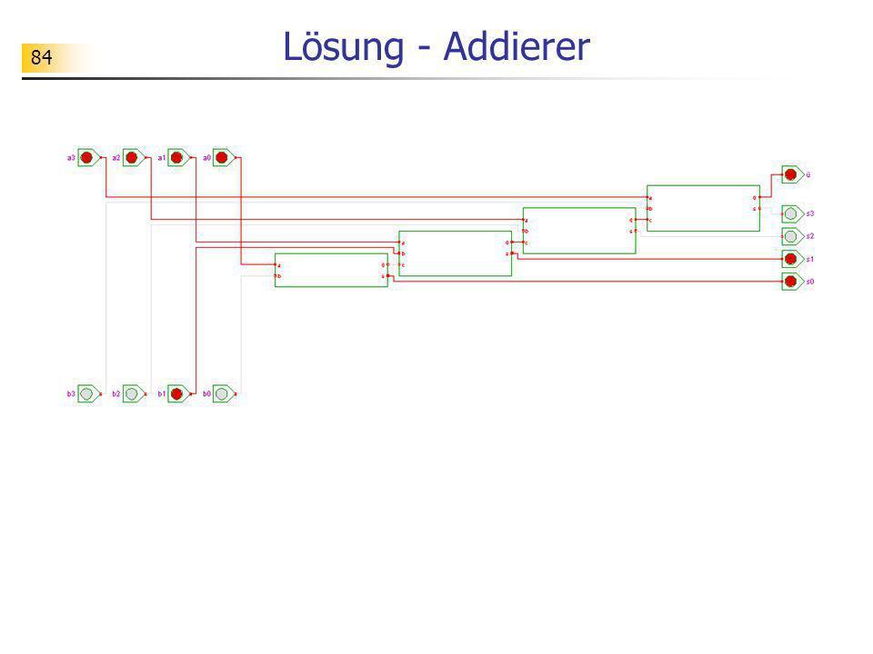 84 Lösung - Addierer