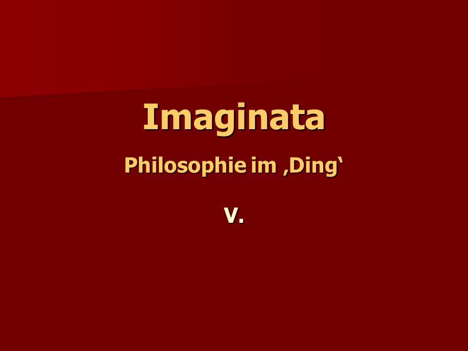 Imaginata Philosophie im Ding V.