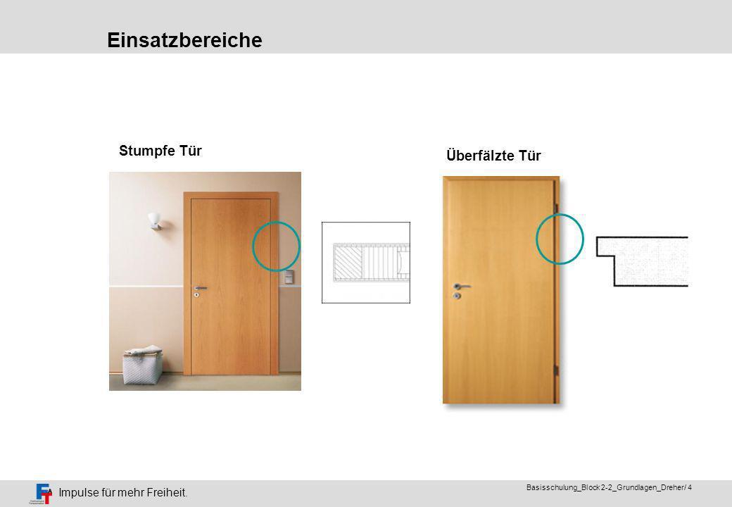 Impulse für mehr Freiheit. Basisschulung_Block 2-2_Grundlagen_Dreher/ 3 Türeneinmaleins ( Fachausdrücke ) Holztür mit Glaseinsatz Ganzglastür (Edel-)