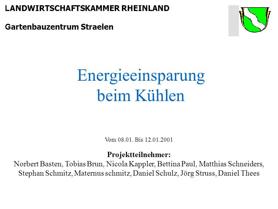 L ANDWIRTSCHAFTSKAMMER RHEINLAND G artenbauzentrum Straelen Vom 08.01.