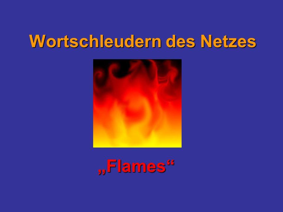 Wortschleudern des Netzes Flames