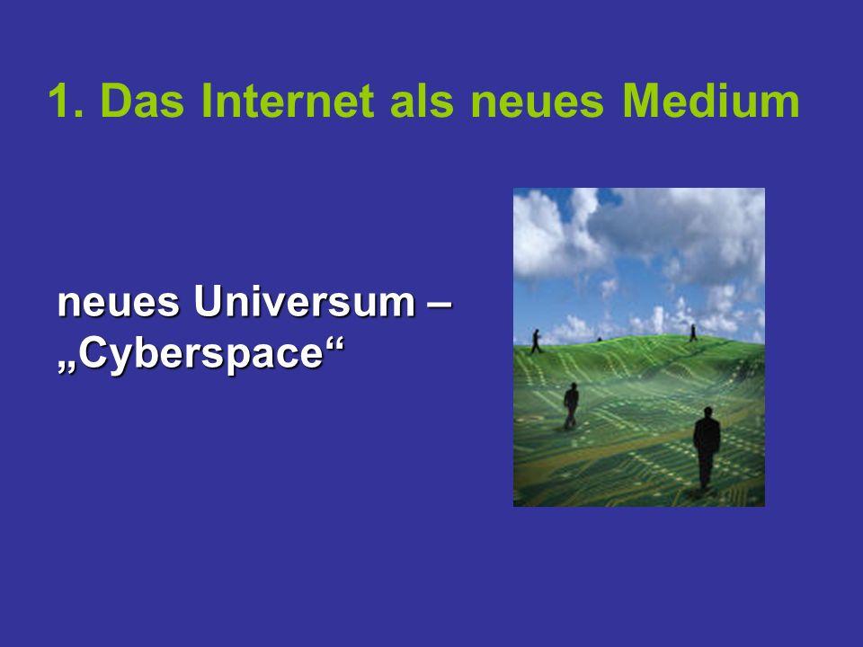 1. Das Internet als neues Medium neues Universum – Cyberspace